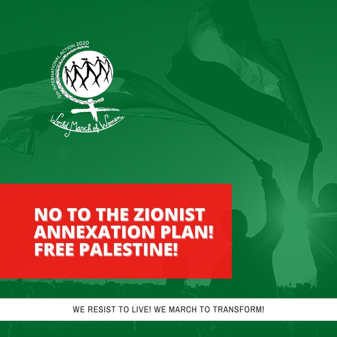 No to the Zionist annexation plan! Free Palestine!