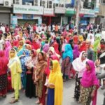Garments workers protest for their wages in Bangladesh