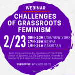 "On 02/23, attend the webinar ""Challenges of grassroots feminism""."