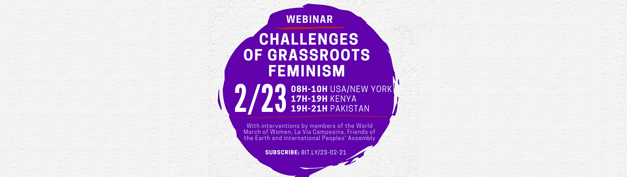 """On 02/23, attend the webinar """"Challenges of grassroots feminism""""."""