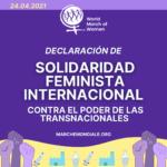 24 Abril: Declaración de solidaridad feminista y internacional contra el Poder de las Transnacionales