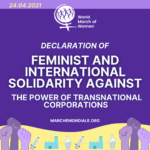 April 24: Declaration of Feminist and International Solidarity Against the Power of Transnational Corporations