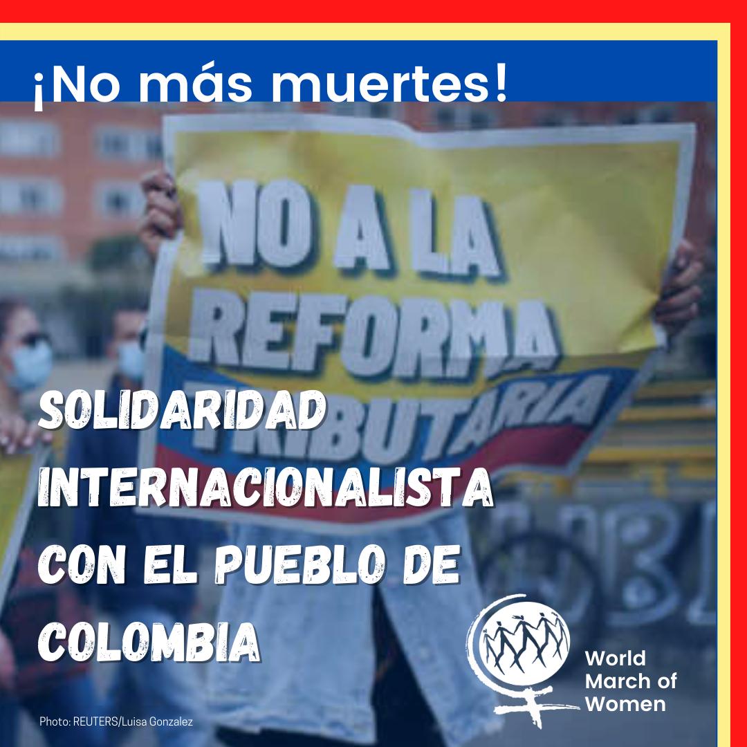 Solidaridad internacionalista con el pueblo de Colombia