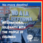 International solidarity with the people of Colombia