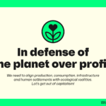 Anti-imperialist Manifesto in Defense of the Environment: The planet before profits - Only one Earth